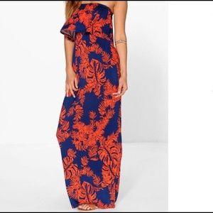 BooHoo floral maxi dress